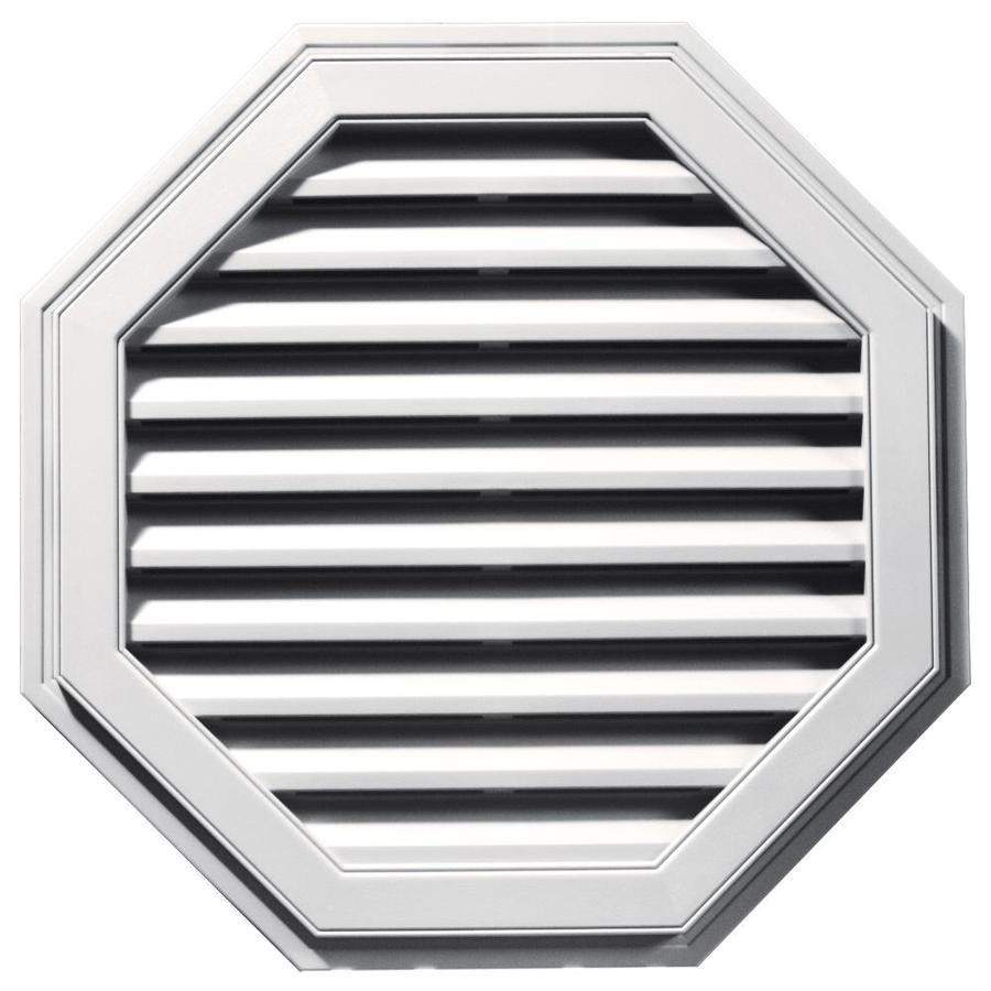 Builders Edge 32-in x 32-in Bright White Octagon Vinyl Gable Vent
