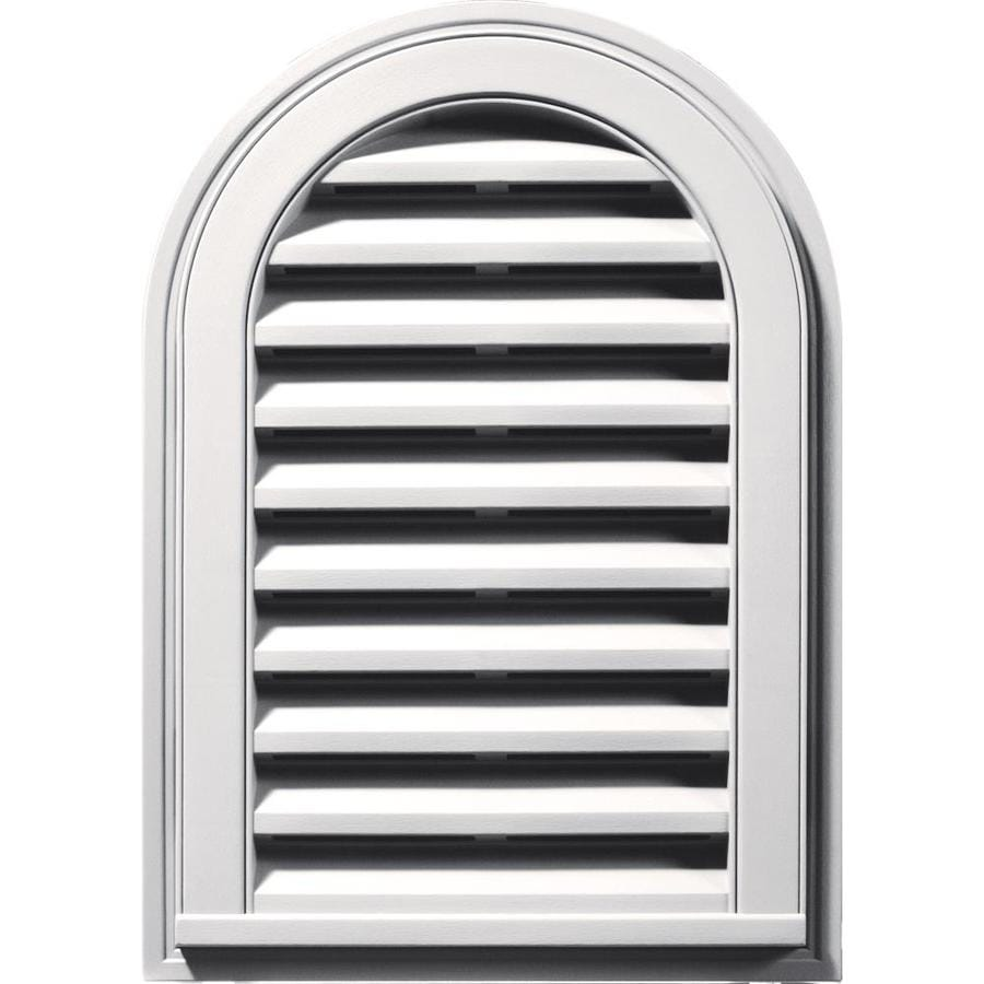 Builders Edge 16-in x 24-in Bright White Round Top Vinyl Gable Vent