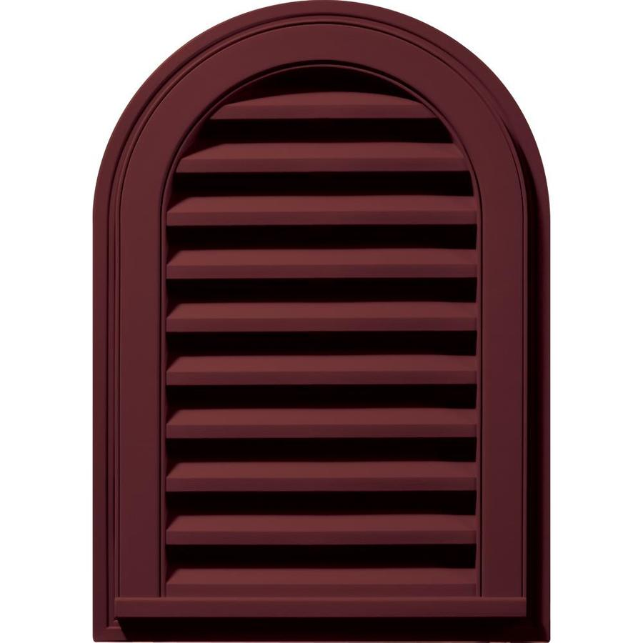 Builders Edge 16-in x 24-in Wineberry Round Top Vinyl Gable Vent