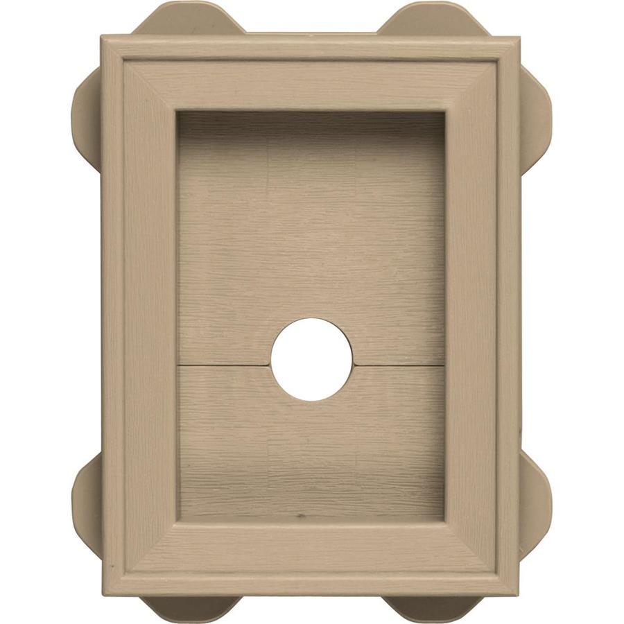 Builders Edge 5-in x 6.75-in Tan Vinyl Universal Mounting Block