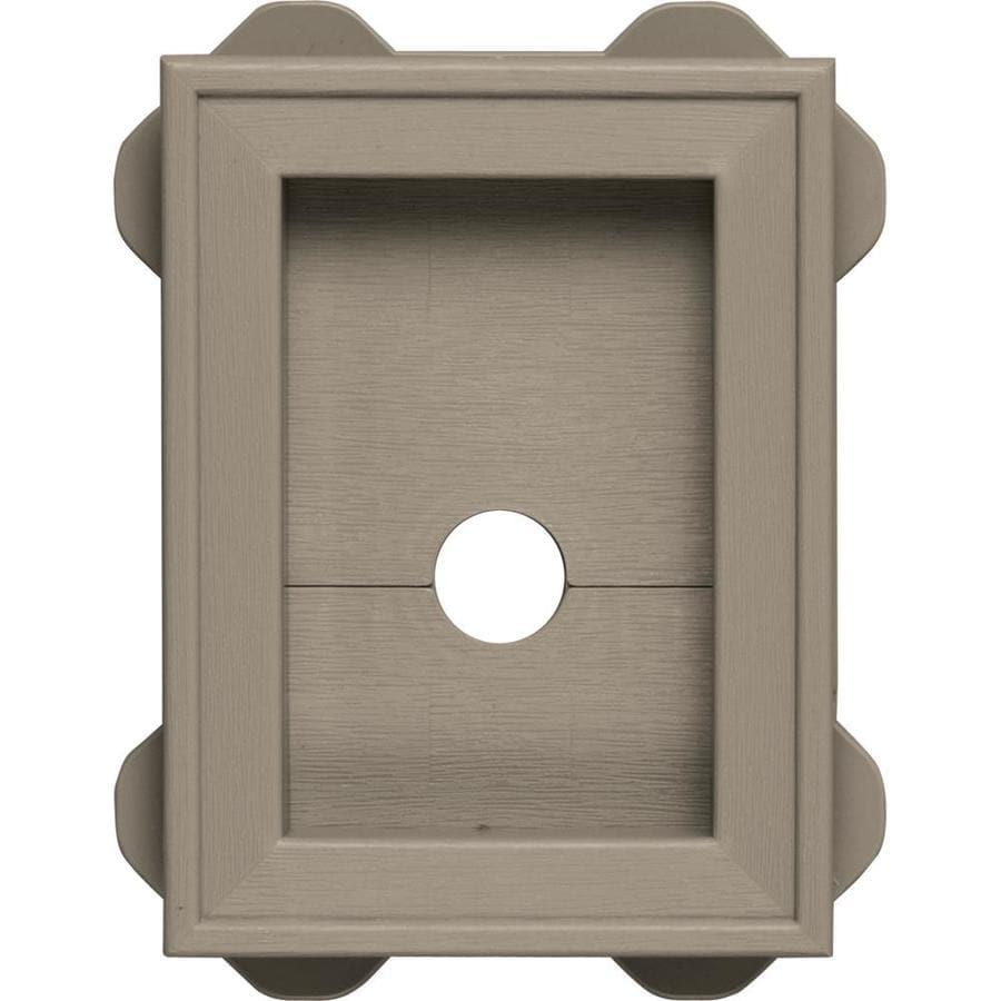Builders Edge 5-in x 6.75-in Clay Vinyl Universal Mounting Block