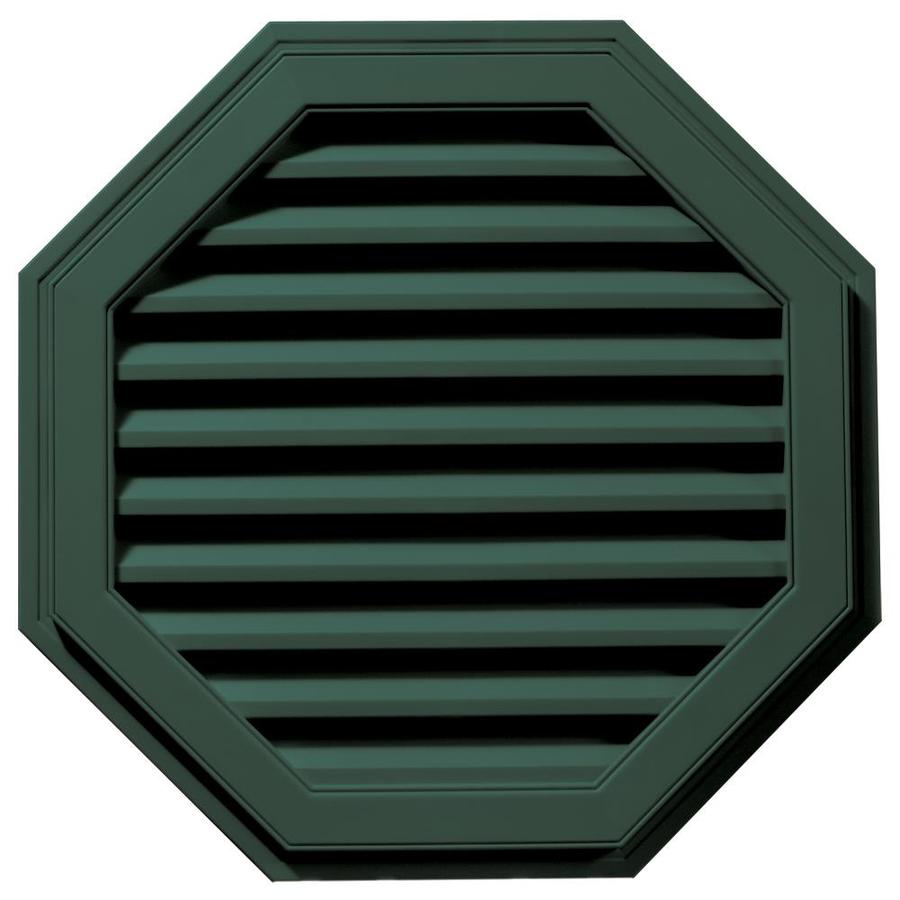 Builders Edge 11-in x 10-in Forest Green Octagon Vinyl Gable Vent