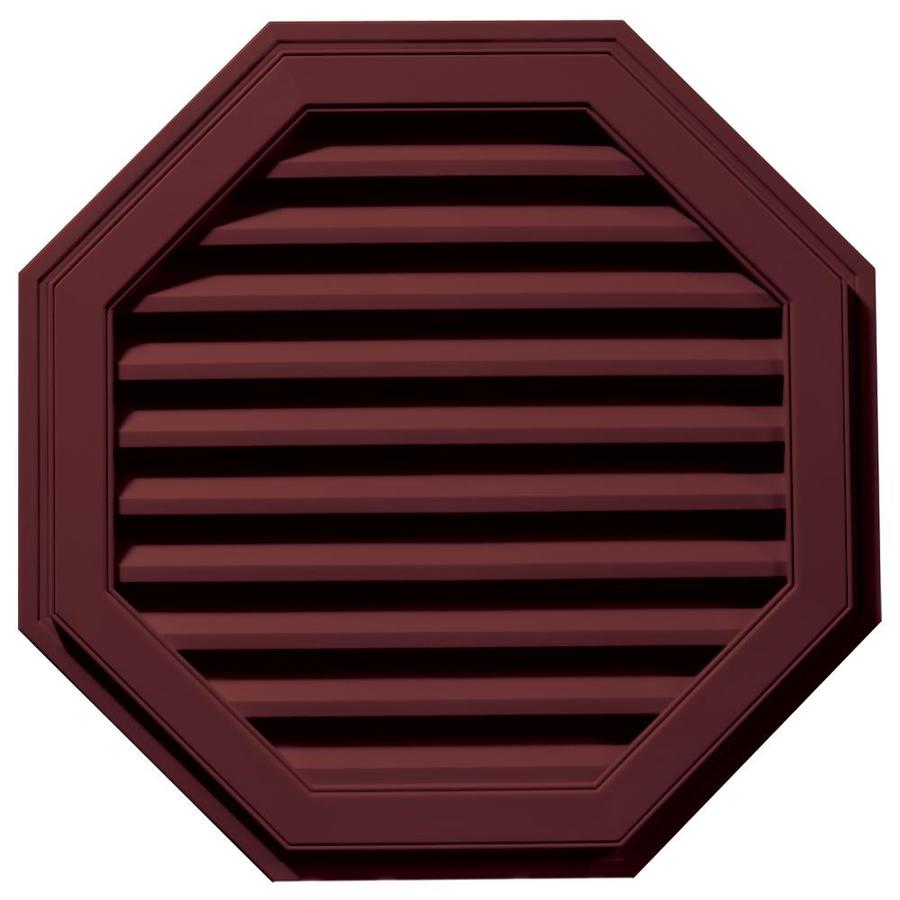Builders Edge 32-in x 32-in Wineberry Octagon Vinyl Gable Vent