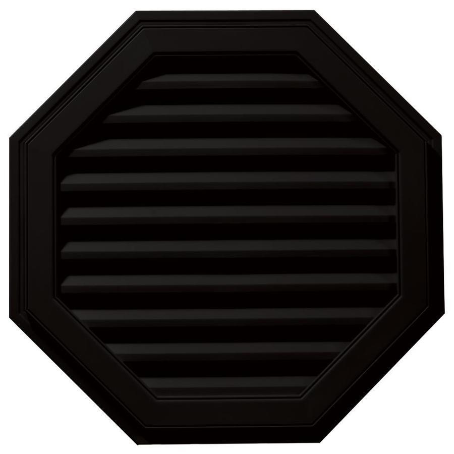 Builders Edge 32-in x 32-in Black Octagon Vinyl Gable Vent