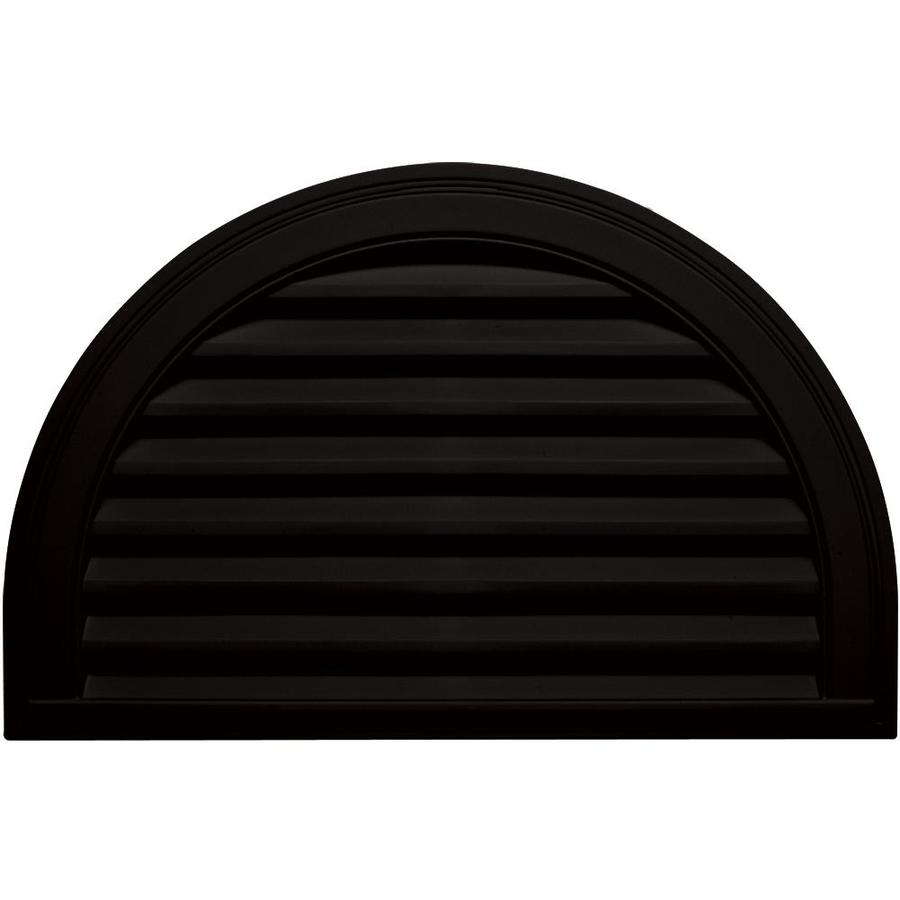 Builders Edge 22-in x 32-in Black Half Round Vinyl Gable Vent