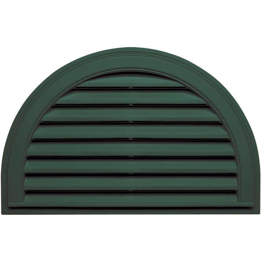 Builders Edge 34-in x 22-in Forest Green Half Round Vinyl Gable Vent