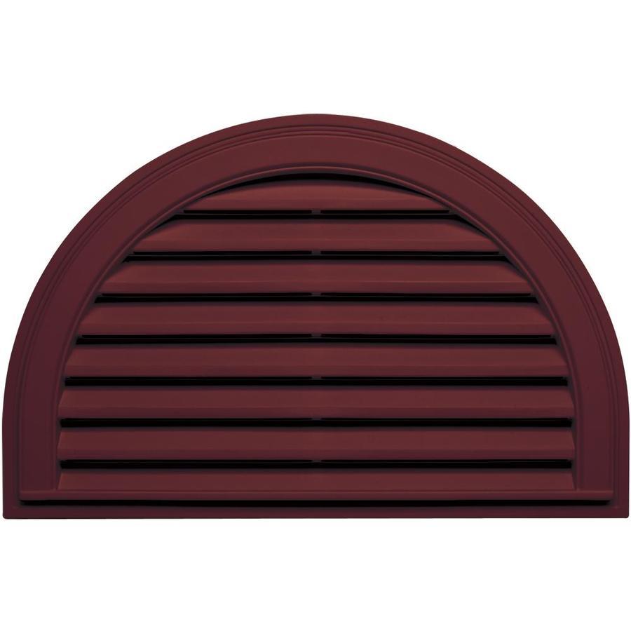 Builders Edge 22-in x 32-in Wineberry Half Round Vinyl Gable Vent