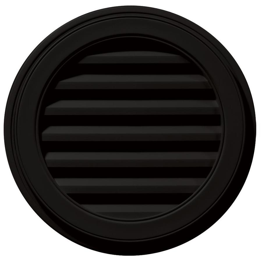 Builders Edge 8-in x 7-in Black Round Vinyl Gable Vent