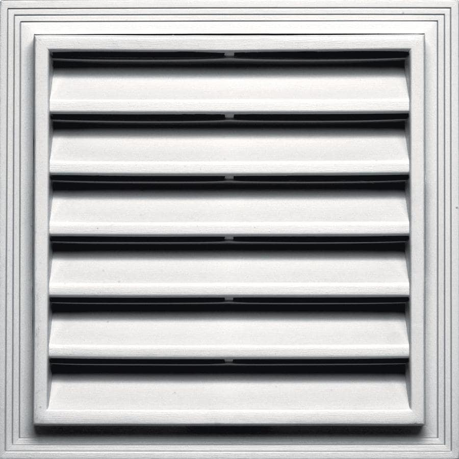 Builders Edge 14.2-in x 14.2-in Bright White Square Vinyl Gable Vent
