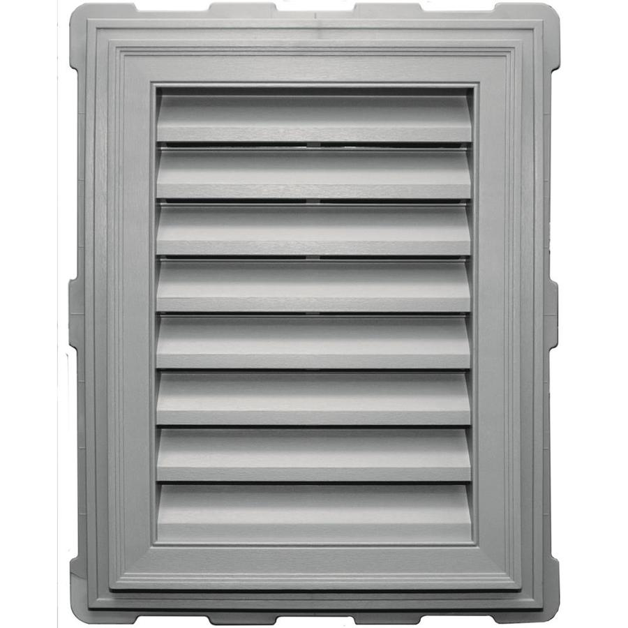 Builders Edge 8-in x 8-in Paintable Rectangle Vinyl Gable Vent