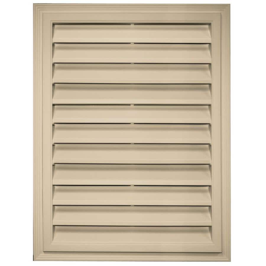 Builders Edge 20.2-in x 26.2-in Light Almond Rectangle Vinyl Gable Vent