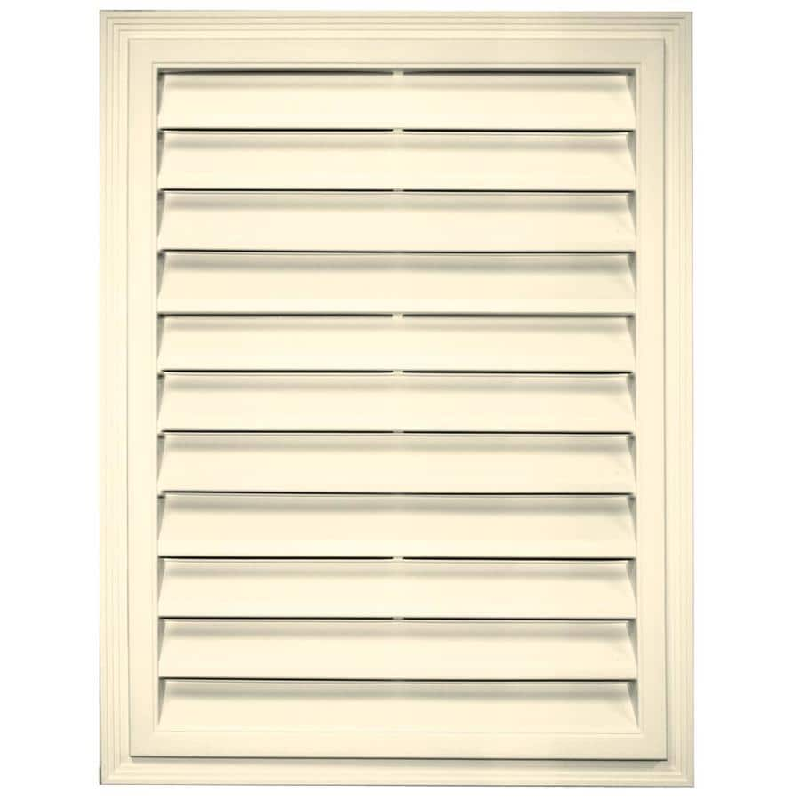 Builders Edge 20.2-in x 26.2-in Heritage Cream Rectangle Vinyl Gable Vent