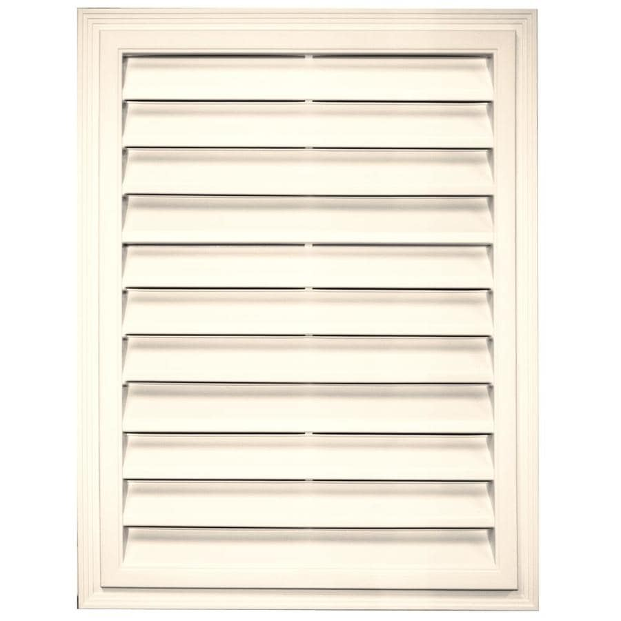 Builders Edge 20.2-in x 26.2-in Sandstone Beige Rectangle Vinyl Gable Vent