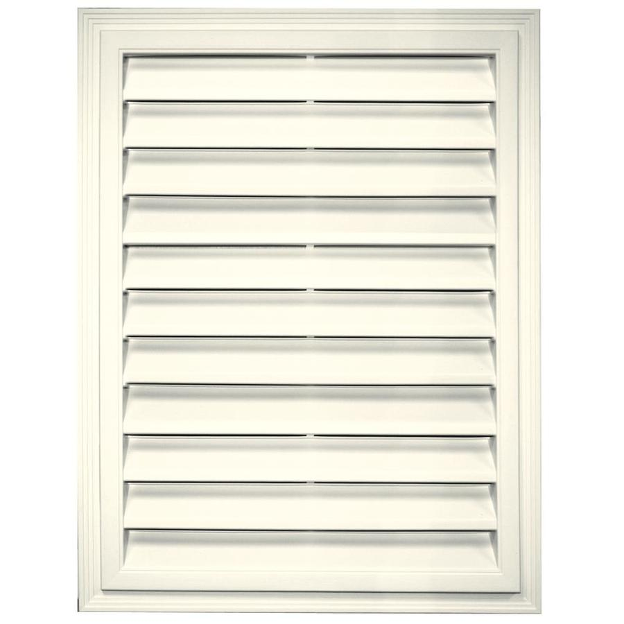 Builders Edge 20.2-in x 26.2-in Parchment Rectangle Vinyl Gable Vent
