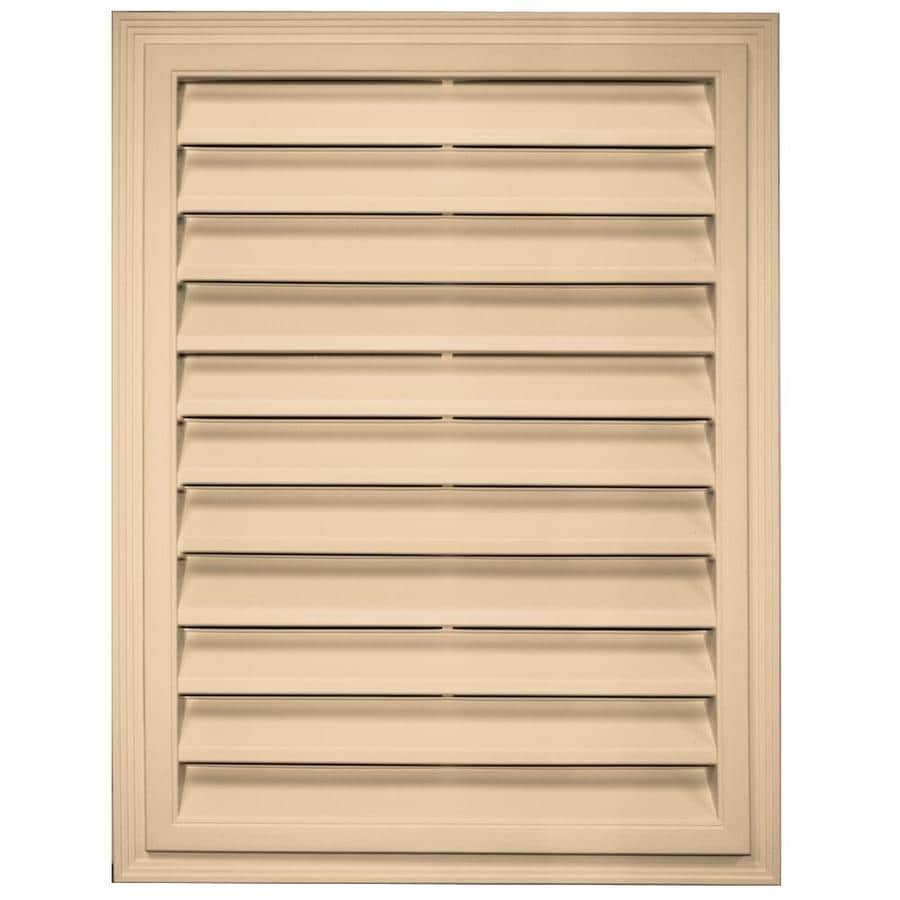 Builders Edge 12-in x 12-in Sandstone Maple Rectangle Vinyl Gable Vent