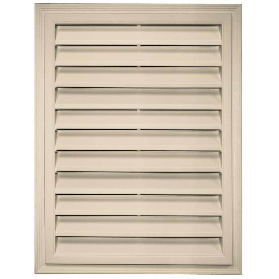 Builders Edge 18-in x 24-in Almond Rectangle Vinyl Gable Vent