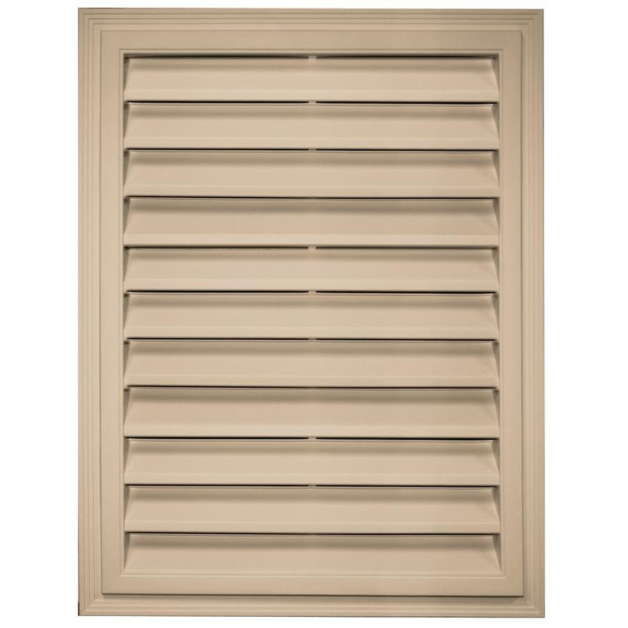 Builders Edge 20.2-in x 26.2-in Champagne Rectangle Vinyl Gable Vent