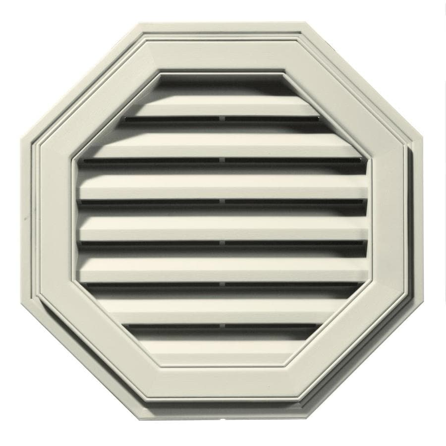 Builders Edge 22-in x 22-in Linen Octagon Vinyl Gable Vent