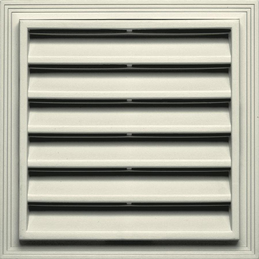 Builders Edge 14.2-in x 14.2-in Linen Square Vinyl Gable Vent