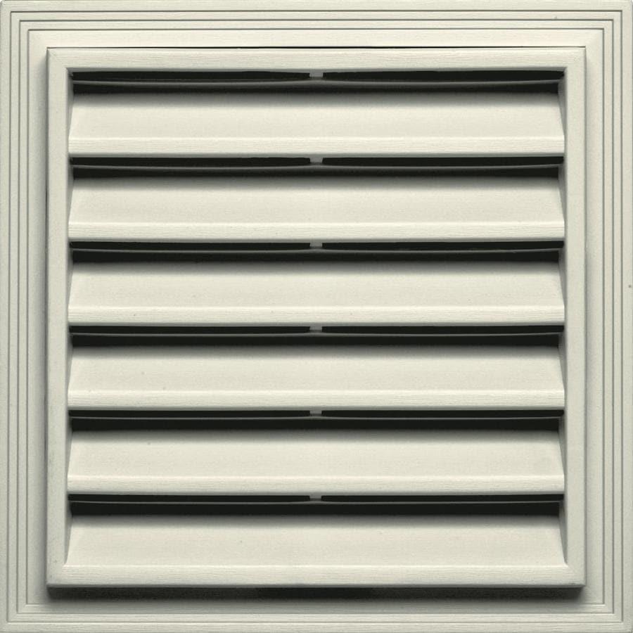 Builders Edge 12-in x 18-in Linen Square Vinyl Gable Vent