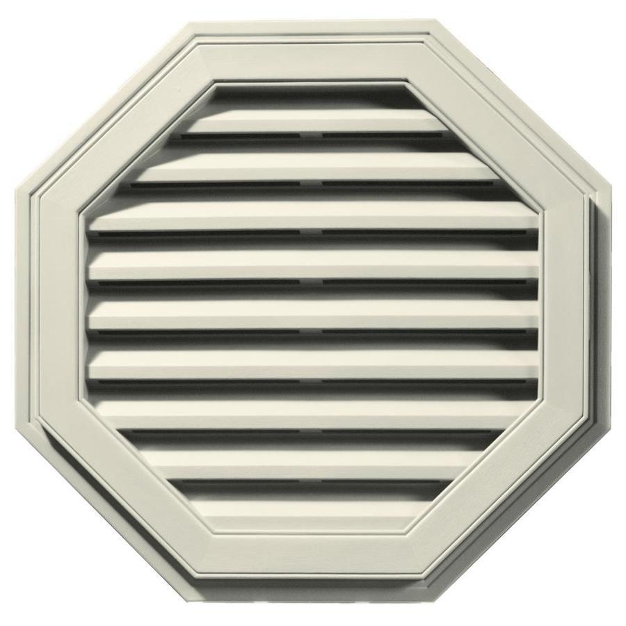 Builders Edge 27-in x 27-in Linen Octagon Vinyl Gable Vent