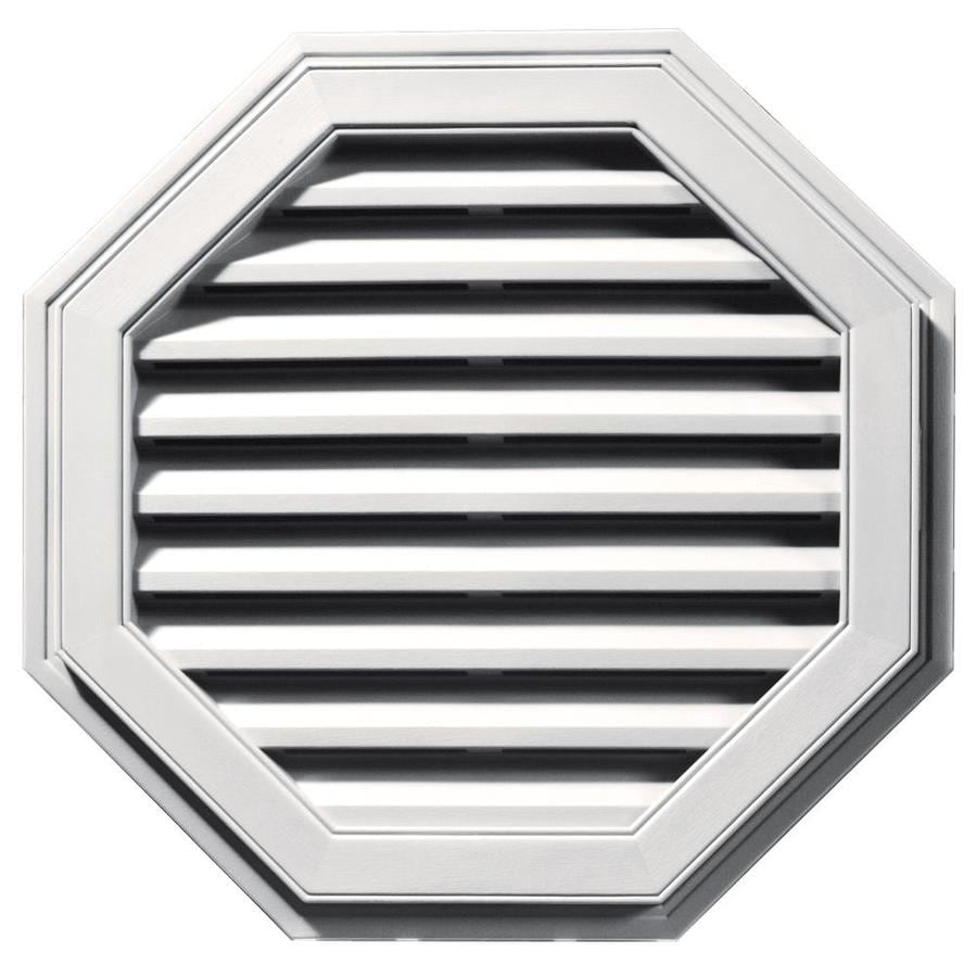 Builders Edge 9-in x 9-in Bright White Octagon Vinyl Gable Vent