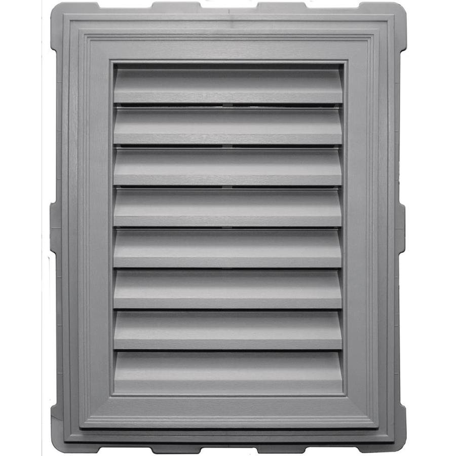 Builders Edge 20.2-in x 26.2-in Gray Rectangle Vinyl Gable Vent