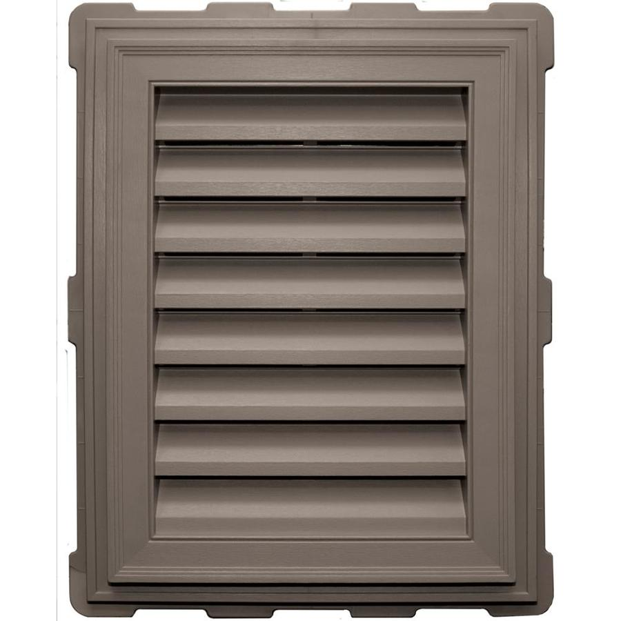 Builders Edge 20.2-in x 26.2-in Clay Rectangle Vinyl Gable Vent