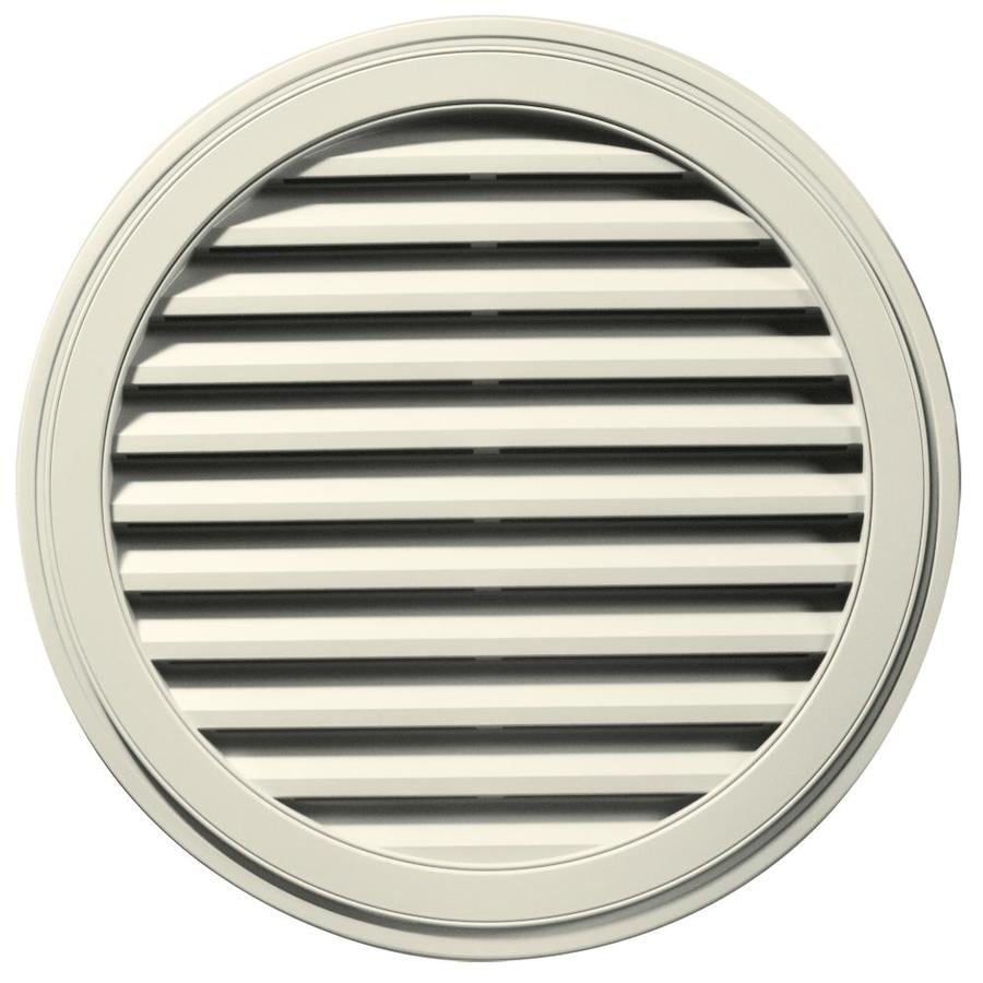 Builders Edge 12-in x 12-in Linen Round Vinyl Gable Vent