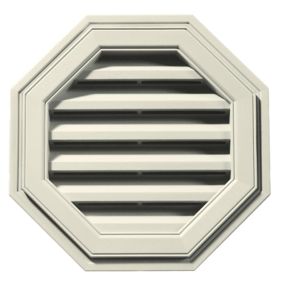 Builders Edge 18-in x 18-in Linen Octagon Vinyl Gable Vent