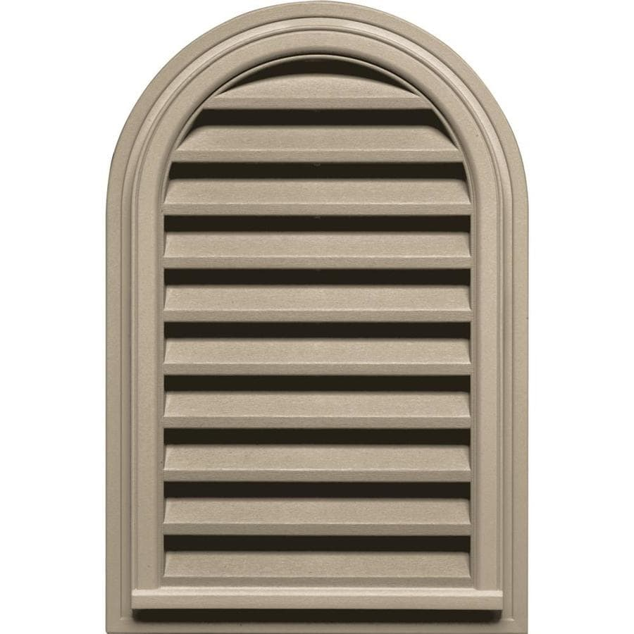 Builders Edge 22-in x 32-in Clay Round Top Vinyl Gable Vent
