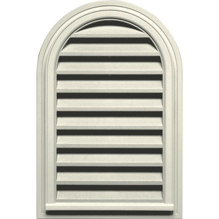 Builders Edge 22-in x 32-in Linen Round Top Vinyl Gable Vent