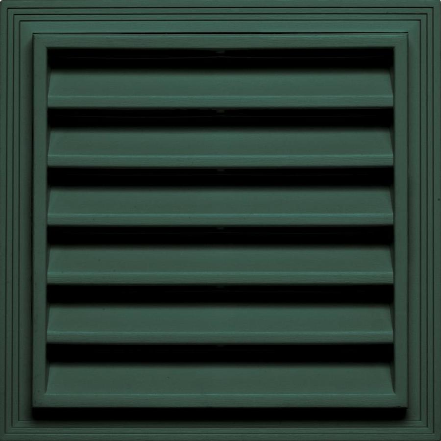 Builders Edge 7-in x 7-in Forest Green Square Vinyl Gable Vent