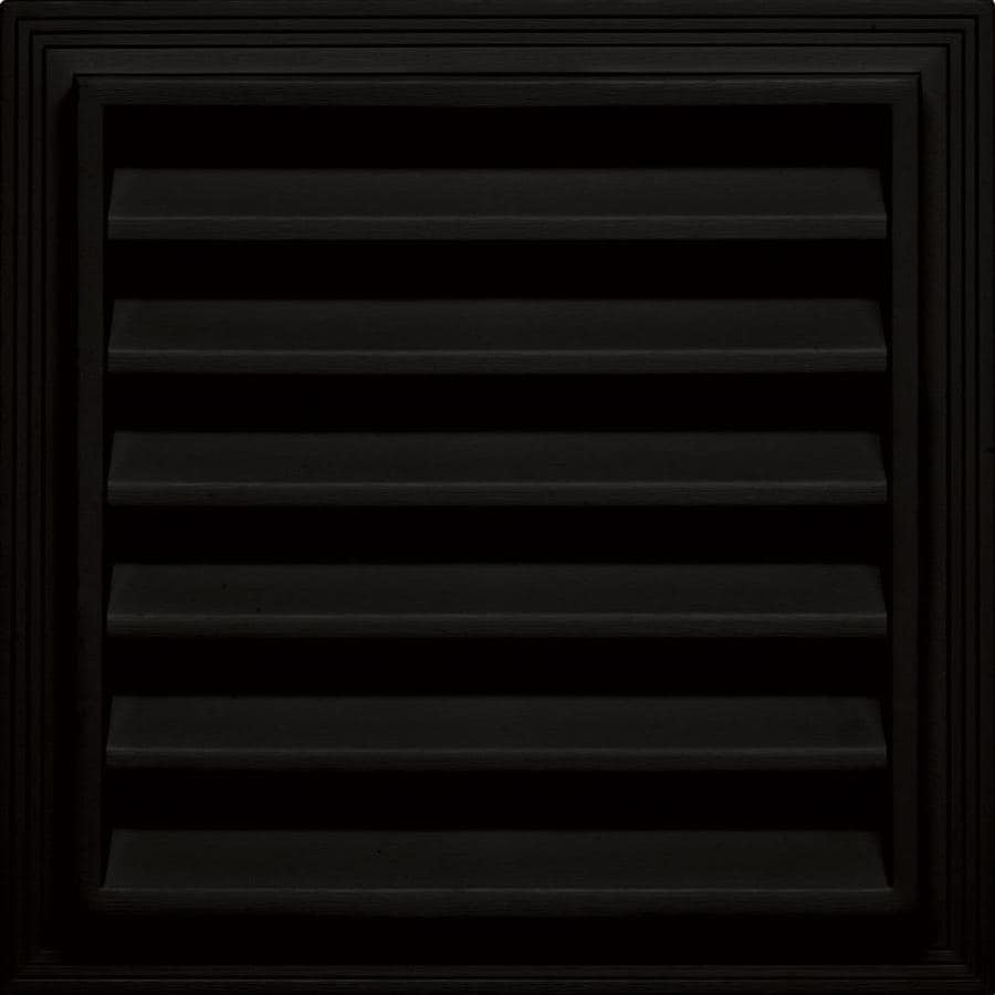 Builders Edge 14.2-in x 14.2-in Black Square Vinyl Gable Vent