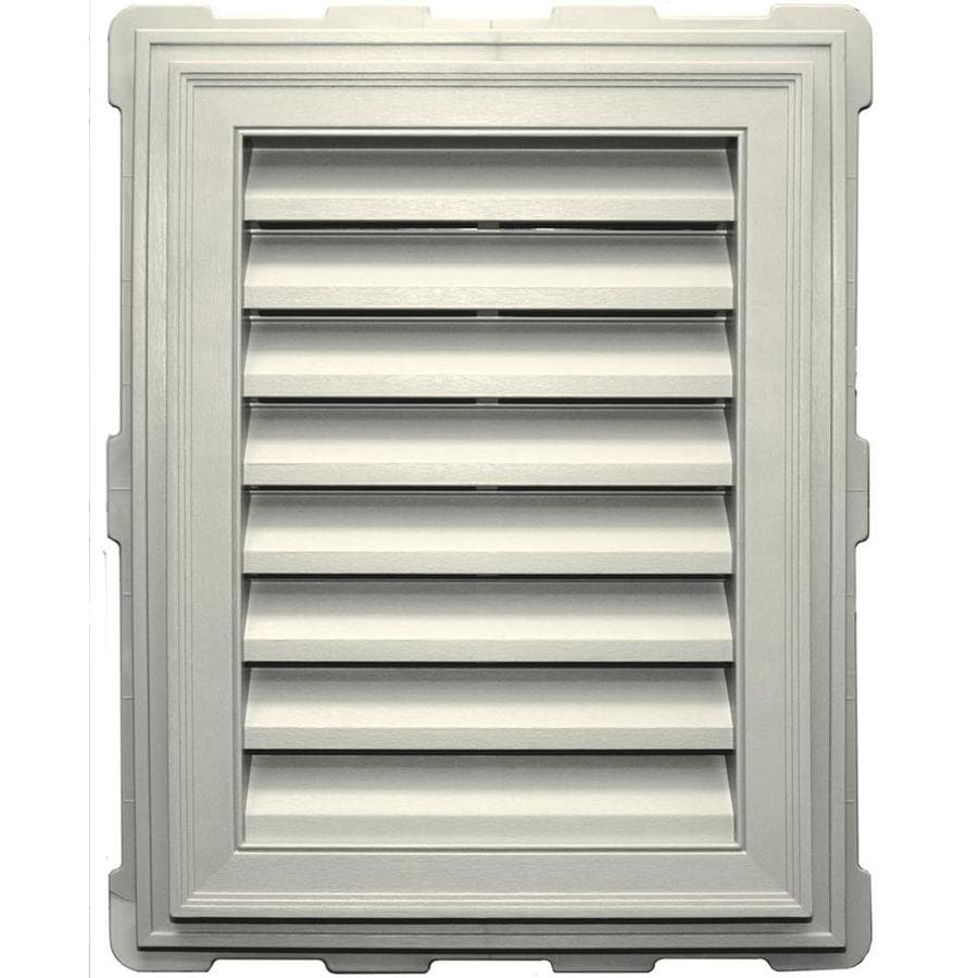 Builders Edge 8-in x 8-in Parchment Rectangle Vinyl Gable Vent