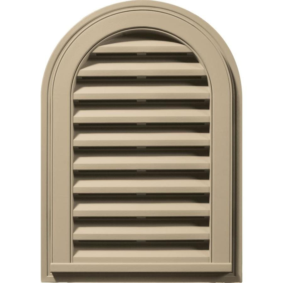 Builders Edge 8-in x 8-in Light Almond Round Top Vinyl Gable Vent