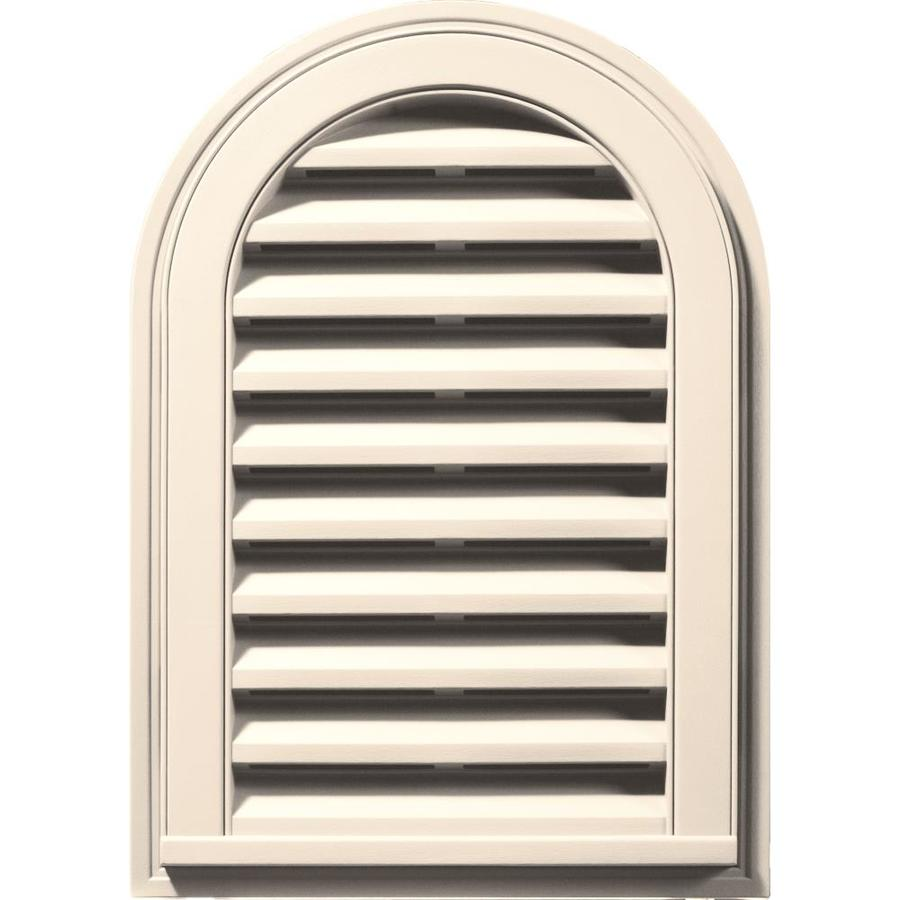 Builders Edge 8-in x 8-in Sandstone Beige Round Top Vinyl Gable Vent