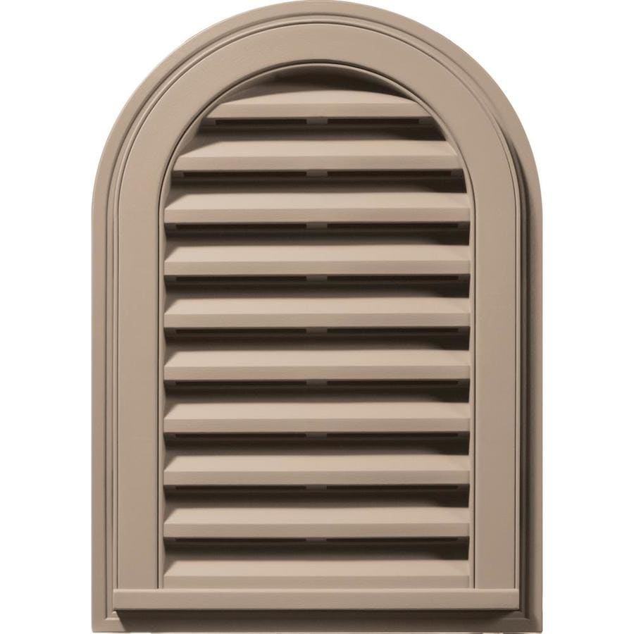 Builders Edge 16-in x 24-in Wicker Round Top Vinyl Gable Vent