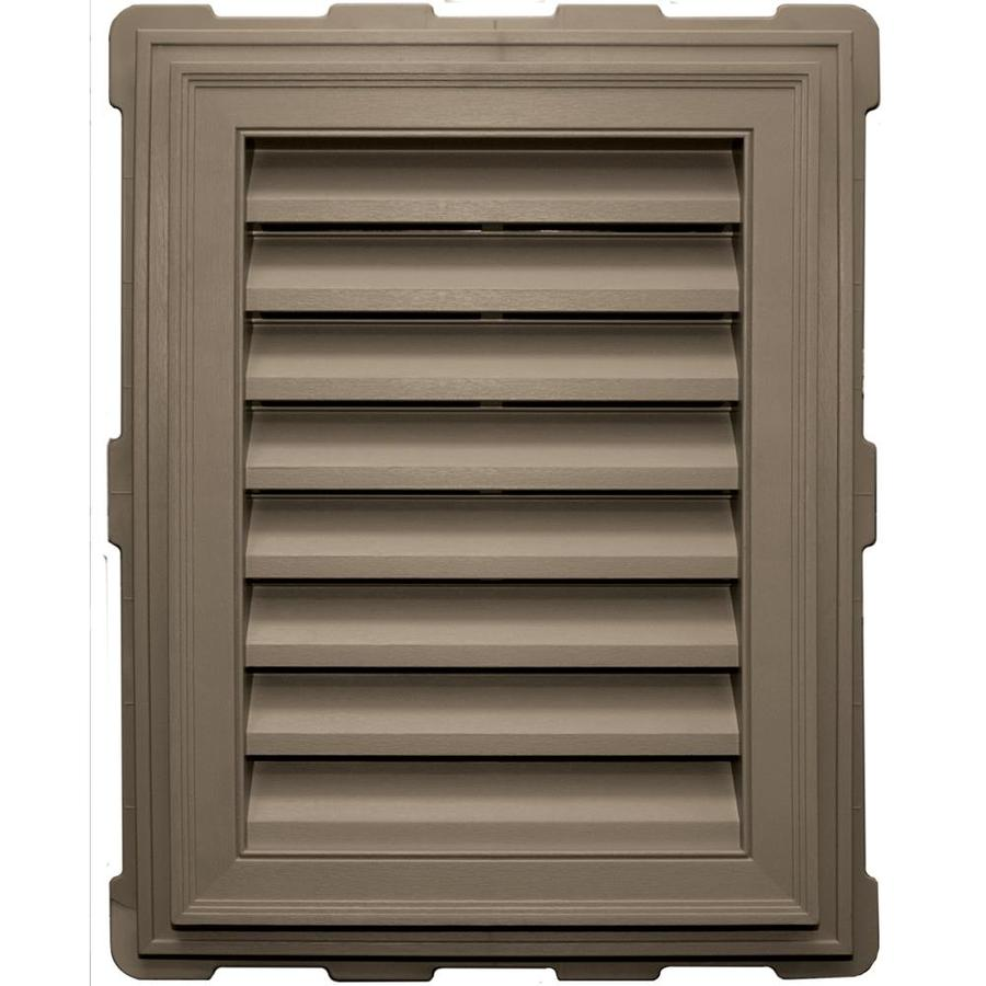 Builders Edge 8-in x 8-in Clay Rectangle Vinyl Gable Vent