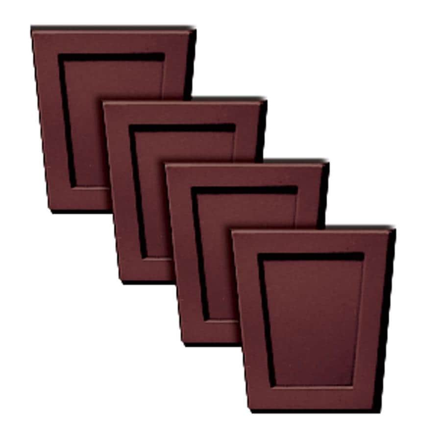 Builders Edge 4-Pack 4-in x 4.5-in Wineberry Polypropylene Gable Vent Keystones