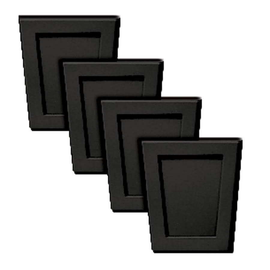 Builders Edge 4-Pack 4-in x 4.5-in Black Polypropylene Gable Vent Keystones