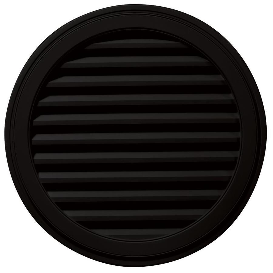 Builders Edge 12-in x 12-in Black Round Vinyl Gable Vent