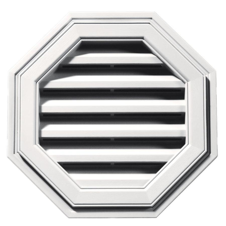 Builders Edge 6-in x 5-in Bright White Octagon Vinyl Gable Vent