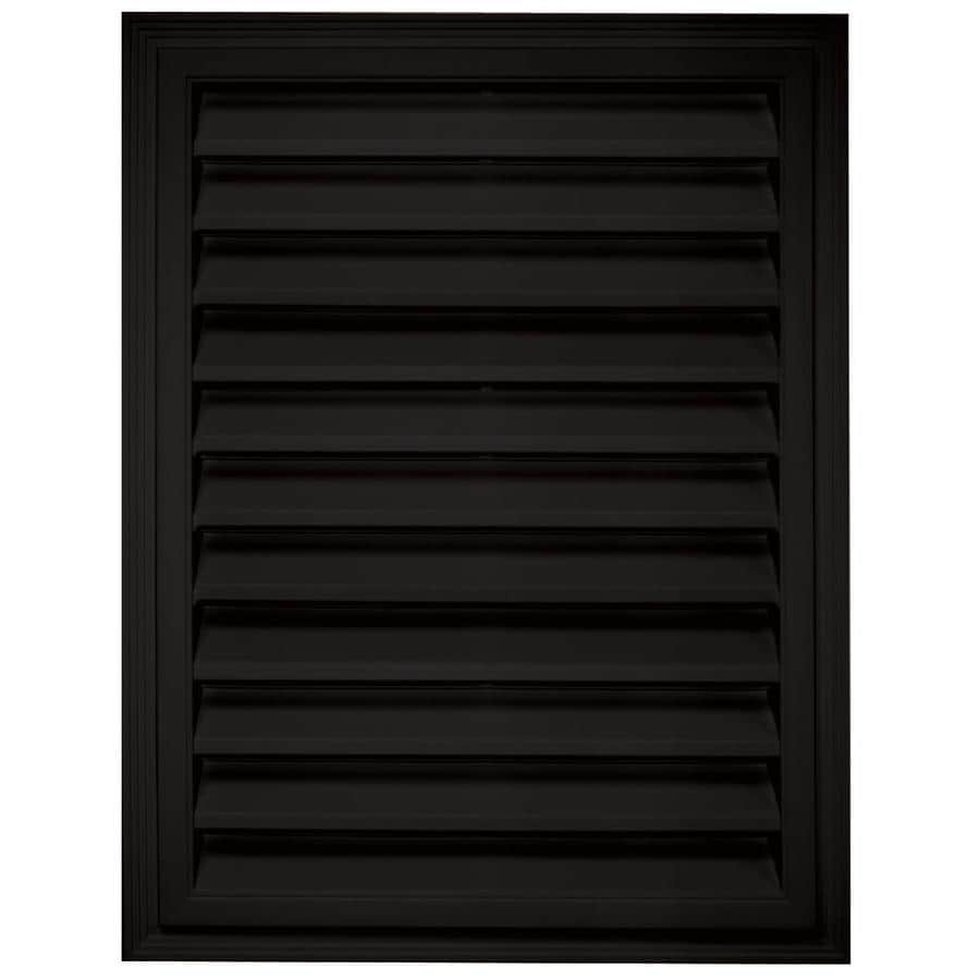 Builders Edge 12-in x 12-in Black Rectangle Vinyl Gable Vent