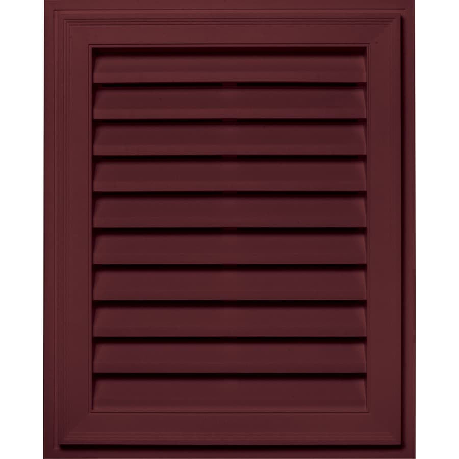 Builders Edge 20-in x 30-in Wineberry Rectangle Vinyl Gable Vent