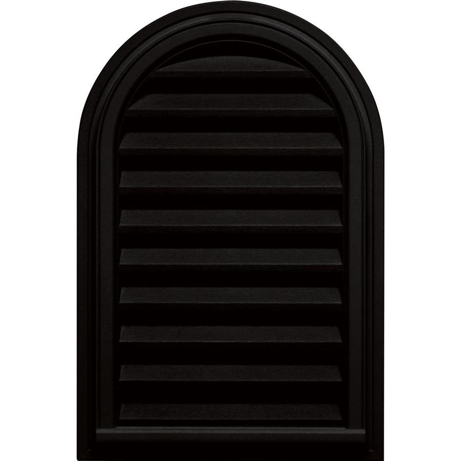 Builders Edge 9-in x 9-in Black Round Top Vinyl Gable Vent