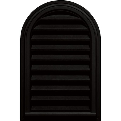 Builders Edge 22 In X 32 In Black Round Top Vinyl Gable Vent In The Gable Vents Department At Lowes Com