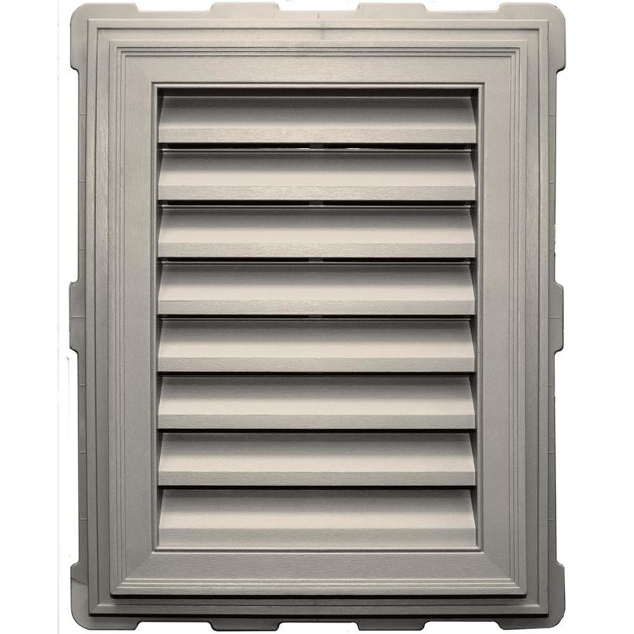Builders Edge 20.2-in x 26.2-in Almond Rectangle Vinyl Gable Vent