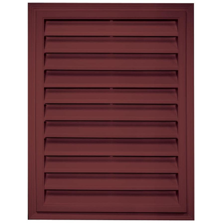 Builders Edge 20.2-in x 26.2-in Wineberry Rectangle Vinyl Gable Vent