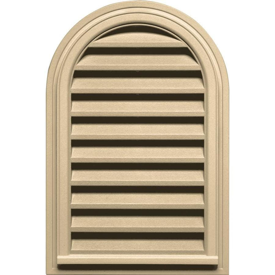 Builders Edge 9-in x 9-in Dark Almond Round Top Vinyl Gable Vent